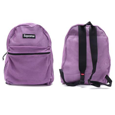 supreme backpack supreme mesh backpack purple millioncart