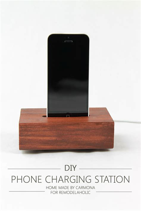 diy phone charging station remodelaholic simple knock off phone charging station