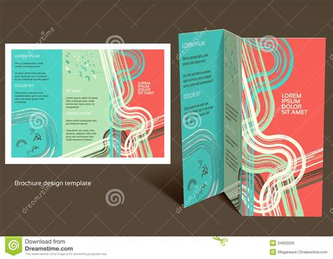 Brochure Booklet Z Fold Layout Editable Design T Stock Vector Illustration Of Illustration Booklet Template