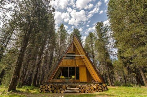 Modern A Frame Homes | modern a frame cabin near the sierra national forest