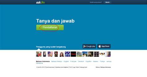 askfm facebook cara membuat akun ask fm dengan email facebook dan