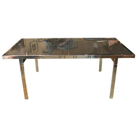Mid Century Modern Glass Dining Table Mid Century Modern Milo Baughman Brass And Glass Dining Table For Sale At 1stdibs