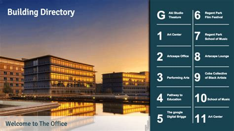 building directory template digital building directories and lobby signs digital signage