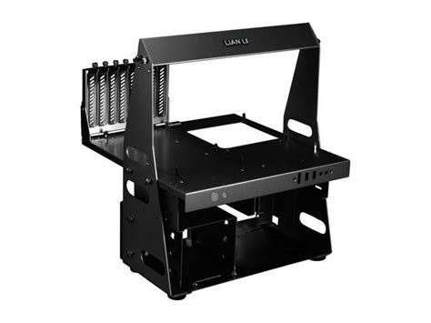 bench computer lian li pc t60b black aluminum atx micro atx test bench