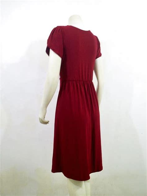 Big Sale Promo Songket Sadum Maroon girly dress spandek lc 3696 maroon gaun pesta