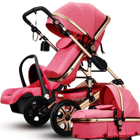 Alas Stroller Baby 1 luxury fashion baby stroller 3 in 1 foldable infant trolley high landscape baby stroller sit and