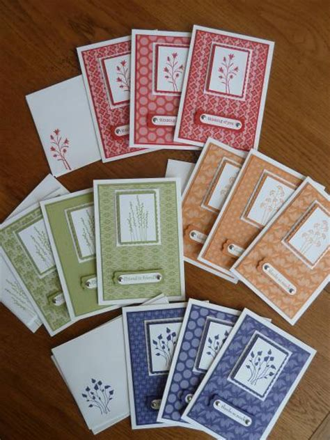 Handmade Card Sets - in color note cards view 2 by jennyconradrn at