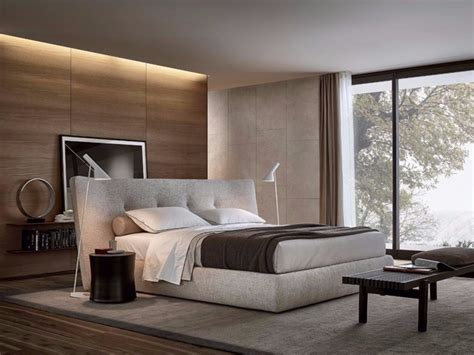 pastellfarben wand upholstered bed with tufted headboard rever by poliform