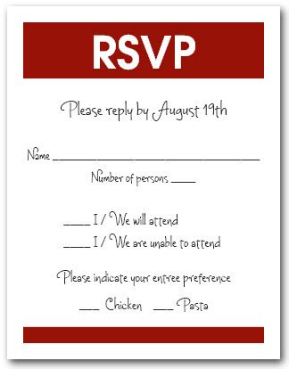 white and burgundy rsvp cards reply cards response cards