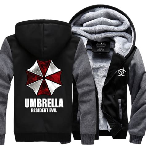 Hoodie Zipper Resident Evil New Winter Jackets And Coats Resident Evil Hoodie Anime