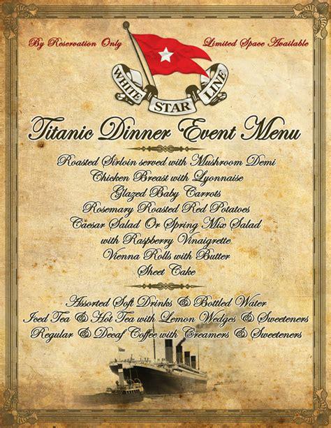 titanic class menu titanic class menu 28 images ebl titanic recipes the