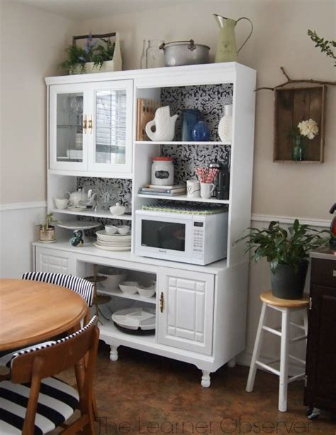Kitchen Furniture Hutch Remodelaholic Create A Kitchen Hutch From An 80 S Wall Unit