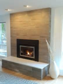 Limestone Tile Fireplace Houzz