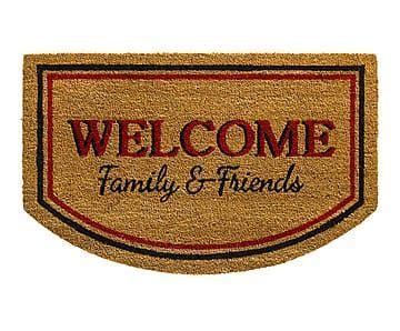 felpudo friends felpudo ruco print welcome family friends 80x50 cm