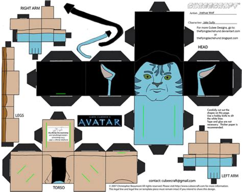 Avatar Papercraft - jake sully from avatar paper free printable