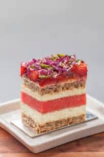 Fresh Rose Petals Strawberry Watermelon Cake Black Star Pastry