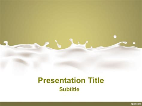 dairy powerpoint presentation free milk powerpoint