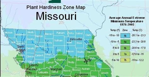 farmers   missouri usda plant hardiness zones map
