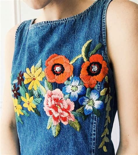 embroidery denim current obsession is embroidered denim for