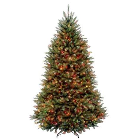 dunhill christmas tress home depot fir christimas trees 6 5 ft dunhill fir artificial tree with 650 multi color lights duh3 65rlo the home