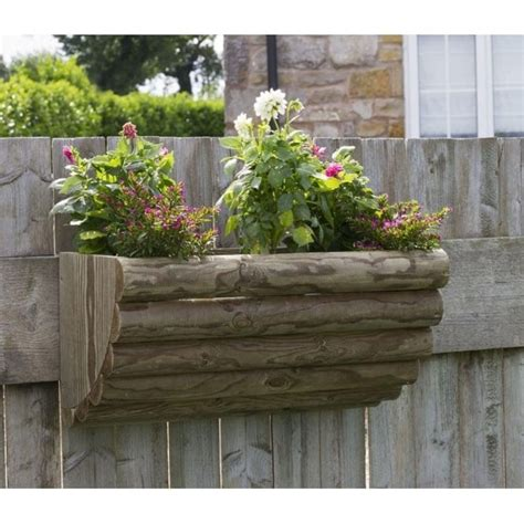 zest  leisure bristol rustic wall planter   pairs