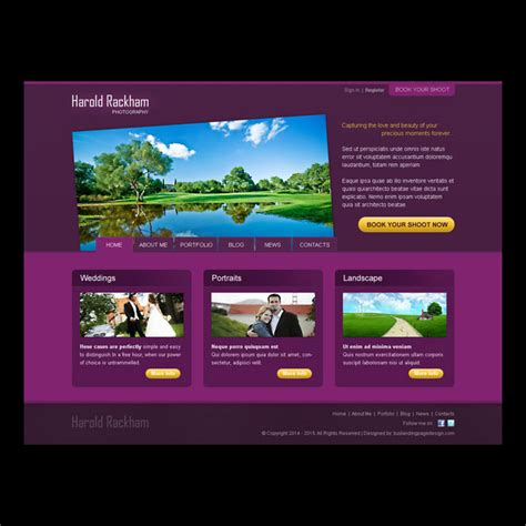 templates for creating website art and photography website templates psd to create your