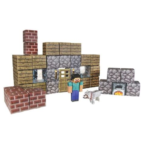Minecraft Papercraft Shelter Set - buy minecraft papercraft shelter 48pc pk from our model
