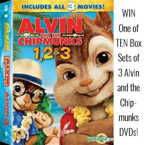 win one of ten box sets of 3 alvin and the chipmunks dvds