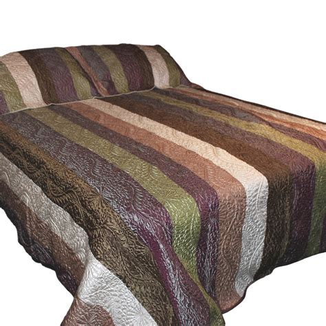 Cheap Quilted Throws by Wholesale Silky Quilted Throw Green Brown White And Purple