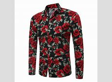 Trendy Long Sleeves Rose Printed Black Cotton Blends ... Rose Wholesale Apparel Cheap Online