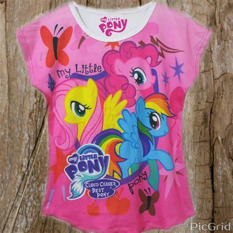 Kaos Dress Anak Printing Unicorn Pink batwing my pony pink 4 14 grosir eceran baju anak murah berkualitas