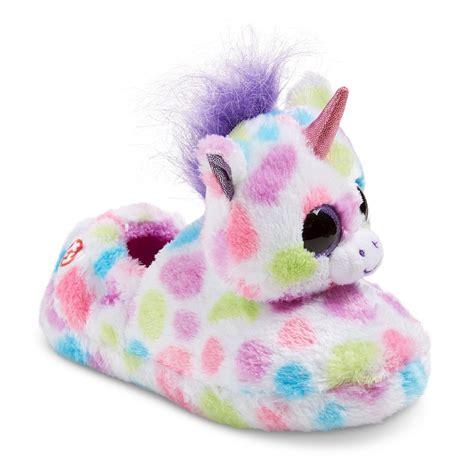 boo slippers ty beanie boo wishful the unicorn loafer slippers