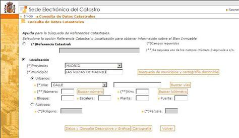 oficina virtual del catstro somoscuatrocientos para obtener la referencia catastral