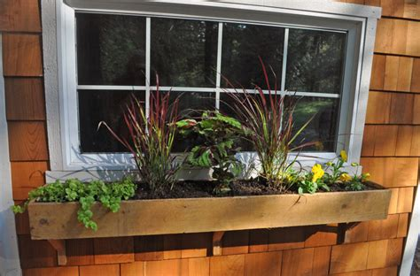 Window Box Planters by Cedar Window Box Planters Interior Design Ideas