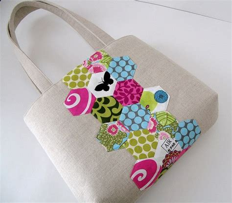 Handmade Bag Ideas - best 25 hexagon patchwork ideas on