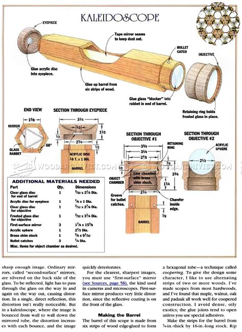 wooden kaleidoscope plans woodarchivist