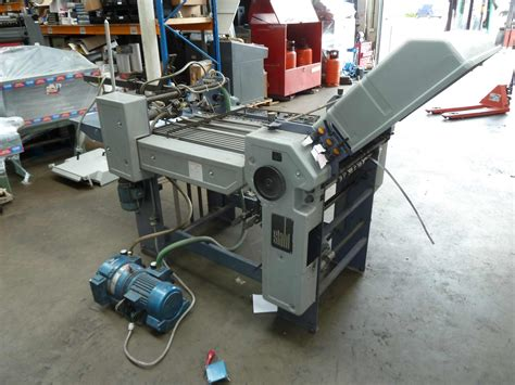 Stahl Paper Folding Machine - folders used finishing machines stahl t 50 4 f paper
