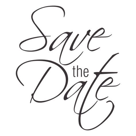 Save the date typography 2   Transparent PNG & SVG vector