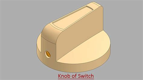 solidworks tutorial knob knob of switch video tutorial solidworks youtube