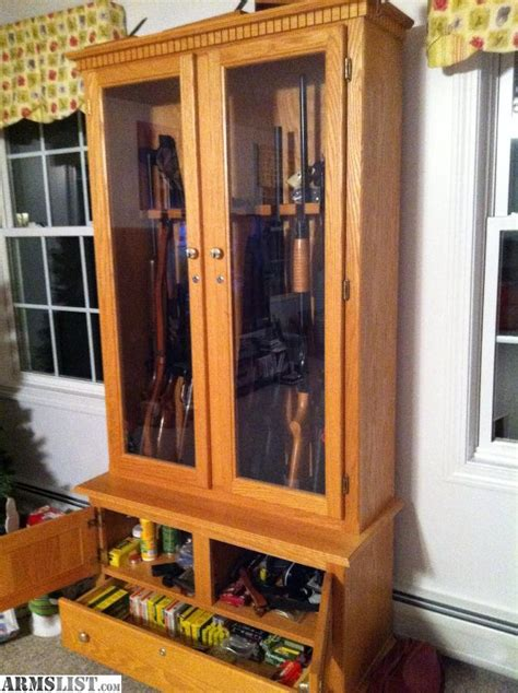 armslist for sale solid wood oak gun cabinet 765
