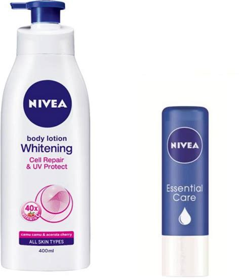 Nivea Lip Care Repair 4 8ml nivea whitening cell repair uv protect lotion with