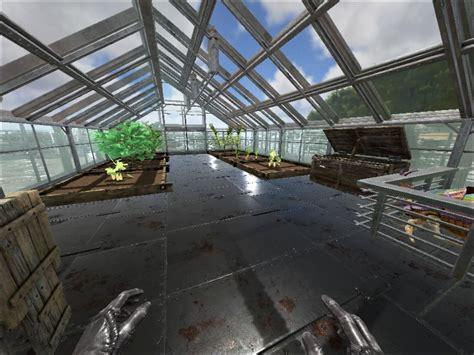 ark house designs a i main base greenhouse inside community albums