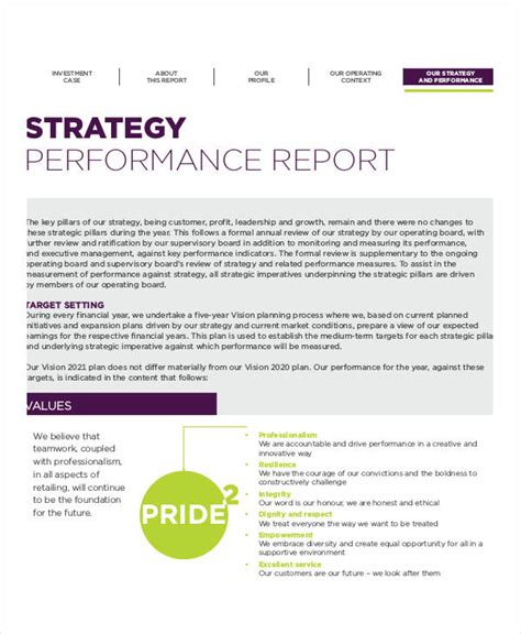 Strategic Management Report Template Strategy Report Templates 9 Free Pdf Documents