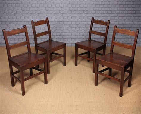 Cottage Dining Chairs Set Of Four Oak Cottage Dining Chairs C 1850 Antiques Atlas