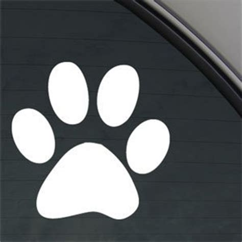 printable window stickers dog paw print 5 quot white vinyl decal window sticker for