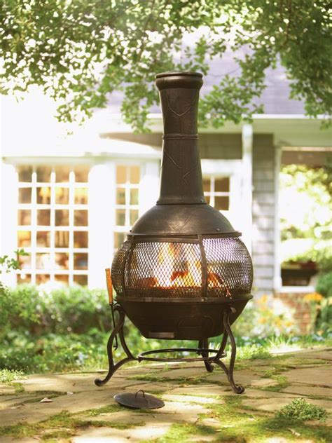 chimineas  warm   outdoors hgtv