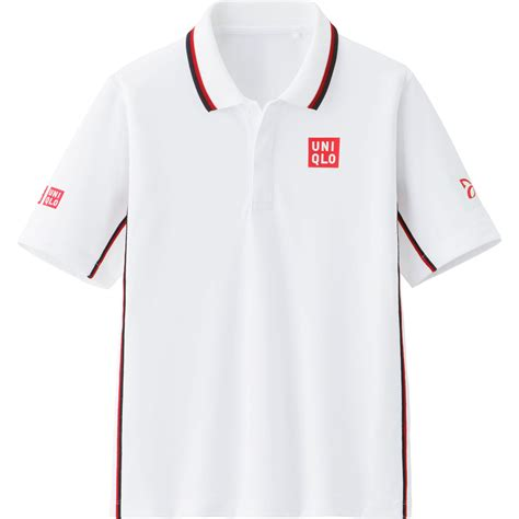 Uniqlo Ex Polo Greywhite uniqlo novak djokovic ex sleeve polo 14 us open in white for lyst