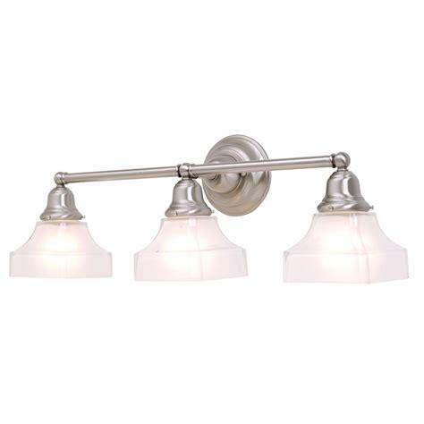 satin nickel bathroom light fixtures three light bathroom light in satin nickel finish 673 09