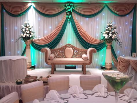 backdrop design wedding sle wedding backdrop swags gold and green swags for backdrop