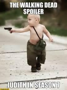 the walking dead spoiler judith in season 7 kid with a gun